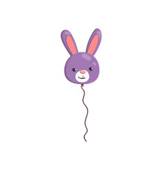 balloon in the form of bunny animal cartoon vector image