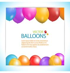 balloon panel background vector image