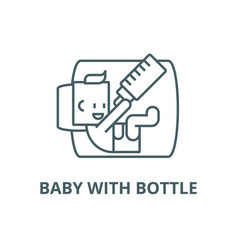 bawith bottle line icon bawith vector image