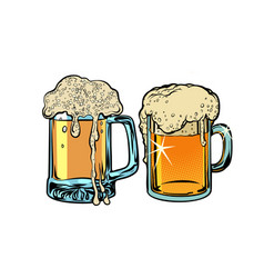 Beer foam isolate on white background vector