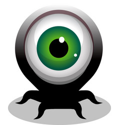 Big eye crawling creepy cartoon character vector