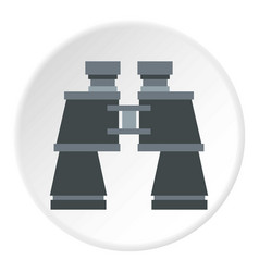 Binoculars icon circle vector