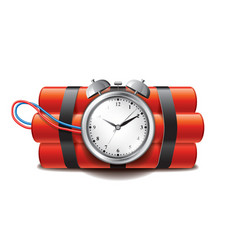 Bomb clock timer isolated vector