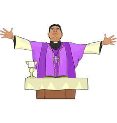 Catholic priest vector