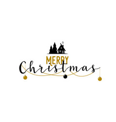 christmas greeting banner retro design vector image