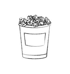 cinema cardboard striped popcorn snack bucket vector image