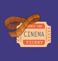cinema ticket access and shots on recorded tape vector image