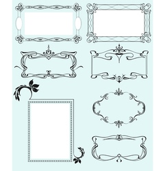 Collection of ornate frames vector