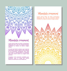 colorful ornamental ethnic banner set vector image