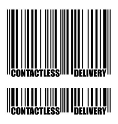 Contactless delivery barcode icon vector