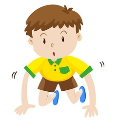 Cute boy crawling on the floor vector image