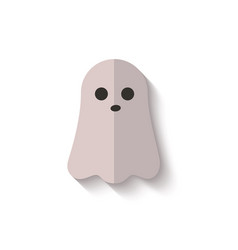 cute halloween ghost icon isolated on white vector image