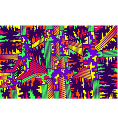 cyber psychedelic background hand drawn vector image