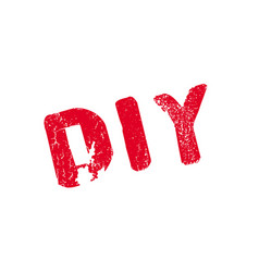 diy rubber stamp vector image