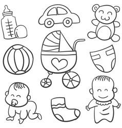 doodle baobject art vector image