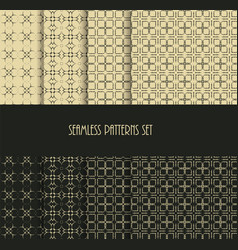 dotted oriental motif seamless pattern collection vector image