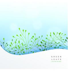 elegant leaf background design vector image