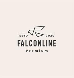 falcon hipster vintage logo icon vector image
