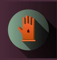 flat icon with hand and flower seed flat vector image