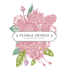 Floral bouquet design with pastel african daisies vector