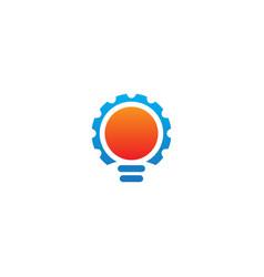 gear light bulb technology logo vector image