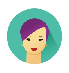 girl with cute hair style vector image