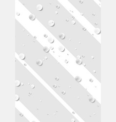 Grey and white striped background with drops vector