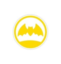 Icon sticker realistic design on paper bat vector