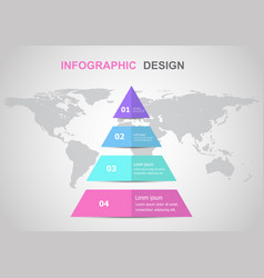 infographic design template with triangle vector image