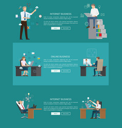 Internet business online work vector
