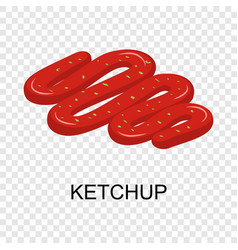 ketchup icon isometric style vector image