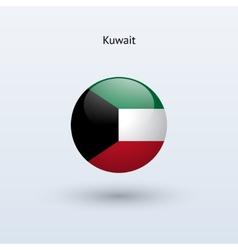 Kuwait round flag vector image