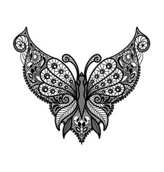 lace neckline vector image
