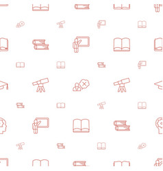 learning icons pattern seamless white background vector image
