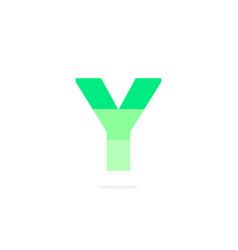 logo letter y green energy battery vector image