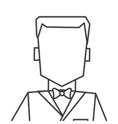 Man with tuxedo portrait icon vector