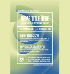 modern art flyer poster template vector image