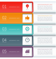 Modern minimal colorful infographics elements vector