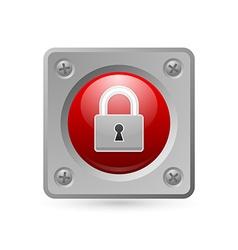 Padlock icon vector image