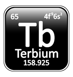 Periodic table element terbium icon vector