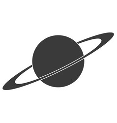 planet icon with an orbital ring logo sign vector image