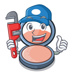 Plumber blush is isolated with cartoons vector