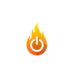 power fire logo icon design vector image