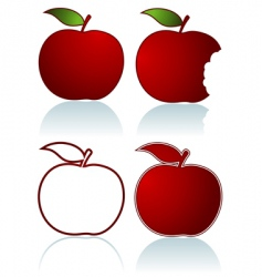 red apples vector image