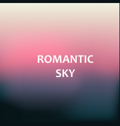 Romantic sky blurred background vector