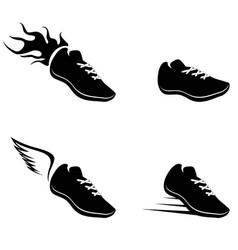 running shoes icon vector image