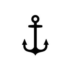 Sea anchor icon vector