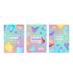 Set abstract fluid creative templates vector