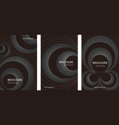 set abstract posters with geometric circles vector image