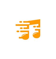 Speed music logo icon design vector